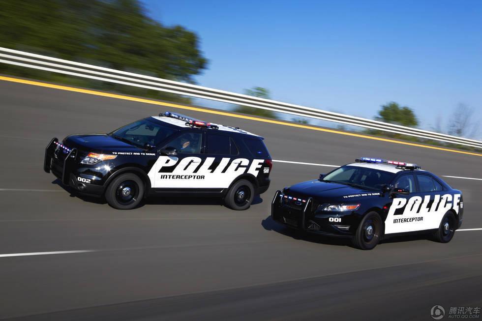 福特探险者警车在北美大受欢迎 内饰霸气