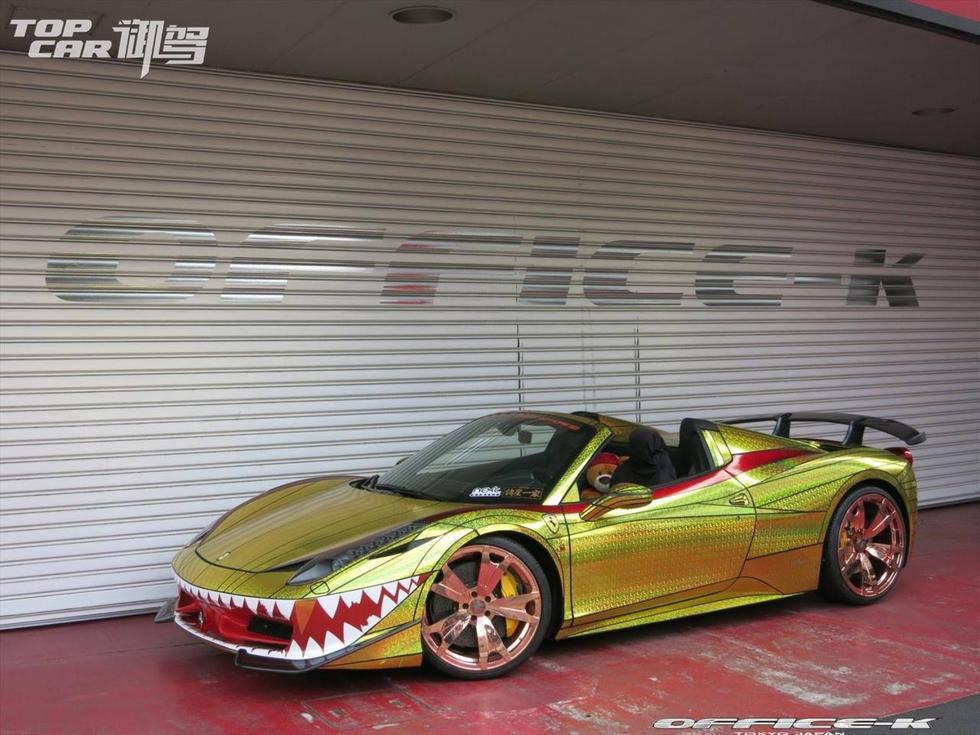 惊到爆 改装厂推鲨鱼土豪金涂装法拉利458