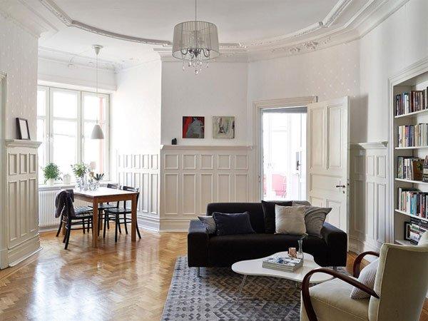 北欧复古舒适两居室装修效果图图片