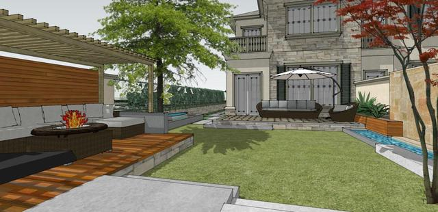 北方别墅 600平米庭院设计