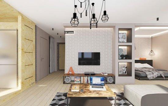 现代艺术设计 时尚白领的单身公寓
