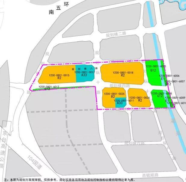 旧宫镇德茂地区yz00-0801-0015等地块控制性详细规划土地使用规划图图片