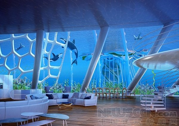 组图:全球首座水下摩天大楼设计公布 - 海阔山遥 - .