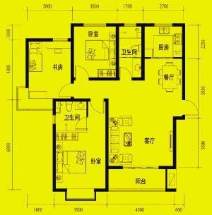 2层坐南朝北四室一厅一厨一卫设计图展示图片