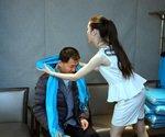 嘉宾披上腾讯蓝围巾