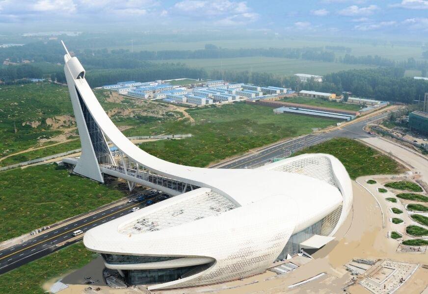 北京东部惊现奇葩建筑 外型酷似ufo图片