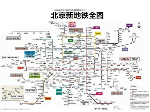 北京地铁8号线线路图 北京地铁线路图 最新 北京地铁8号线三期图片