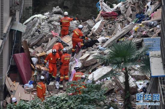 贵阳楼房垮塌死亡人数增至10人 仍有6人失联