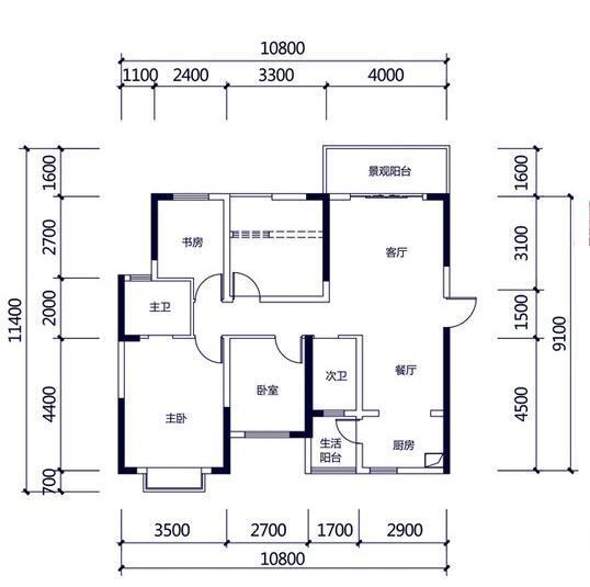 Q友买房:三环以里110-120平三房 配套完善7千左右