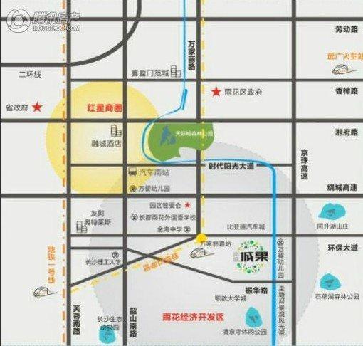 南庭城果交通图