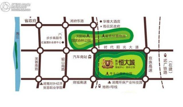长沙恒大城交通图