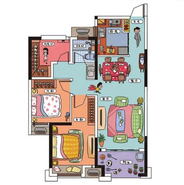 Q友买房:靠近地铁口85平左右小三房 配套设施完善