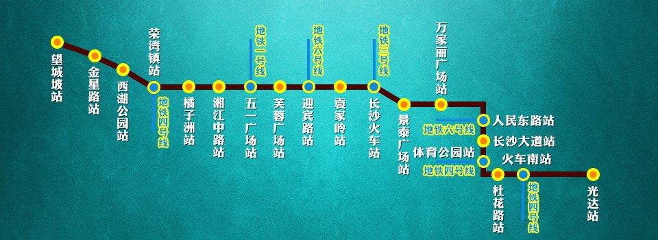 长沙地铁二号线规划图