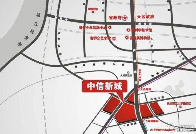 中信新城区位图