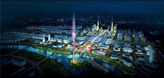 (高铁新城规划效果图)-高铁新城未来城市副中心 环球村迎来重大利好