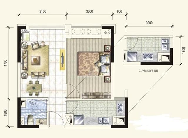 Q友买房:求地铁旁50-60平小户型 首付十万左右