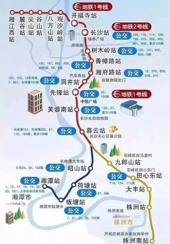长株潭城铁西段将开 这些楼盘又要火了!