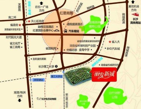 丽发新城区位图