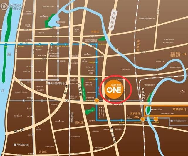 双地铁交汇 长沙地铁4号线换乘站周边楼盘都在这里