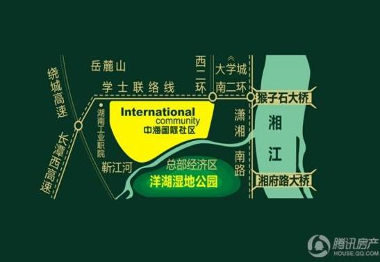 中海国际社区区位图