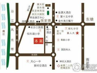 钱隆首府区位图