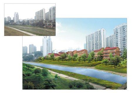 岳麓区拟投2300万整治龙王港沿线 打造欧式风情