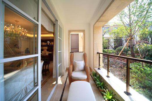 龙王港和法式园林三者的极致景观,金茂悦特意打造180度视角的观景阳台图片