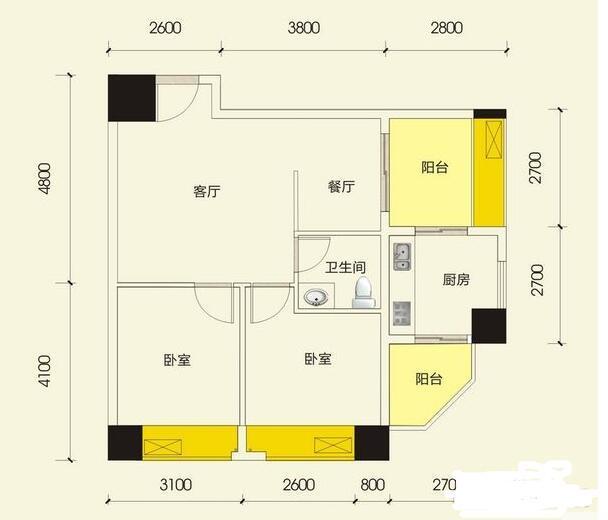 Q友买房:求推荐汽车西站旁70平两房 首付14万左右