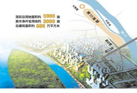湘江新城规划图(来源长沙市政府门户网站)高清图片