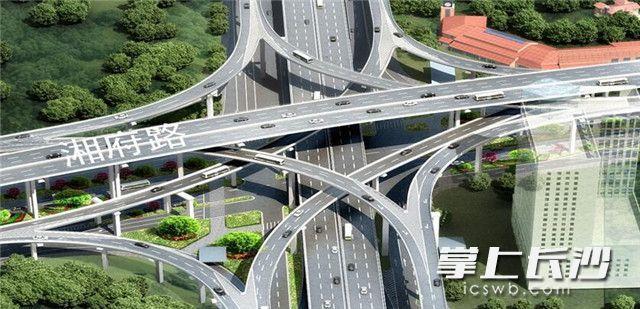 万家丽路立交全面施工 亚洲最大塔吊亮相