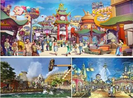 成都万达城主题乐园手绘效果图