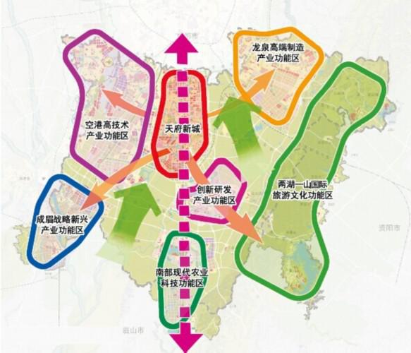 (图:天府新区规划图)
