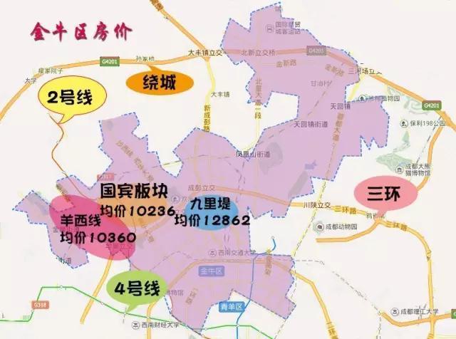 3月成都房价地图:主城区均价10988元/㎡图片