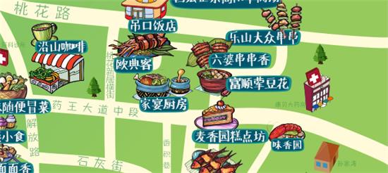 手绘美食地图