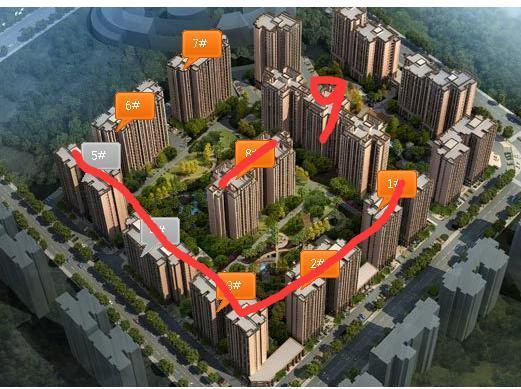 隆鑫十里画卷二期在售楼王 均价6500元/平米