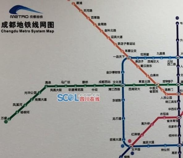 成都地铁今年开通3条线路 4号线二期上半年开通图片