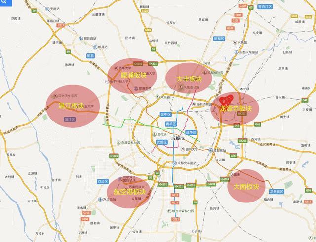 房价地图:6000元\/平还能买在成都哪个区域