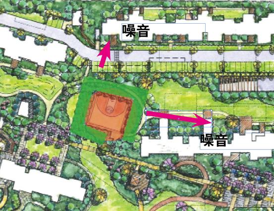 园林景观手绘平面图停车场