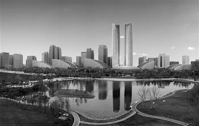 """成都的""""中央公园"""" 金融城交子公园一期开放"""
