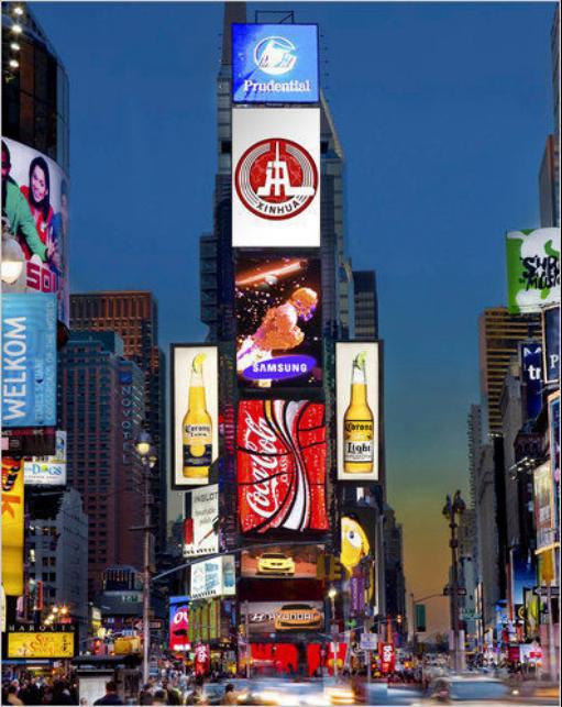 盘点登上纽约时代广场的十大行业高精尖
