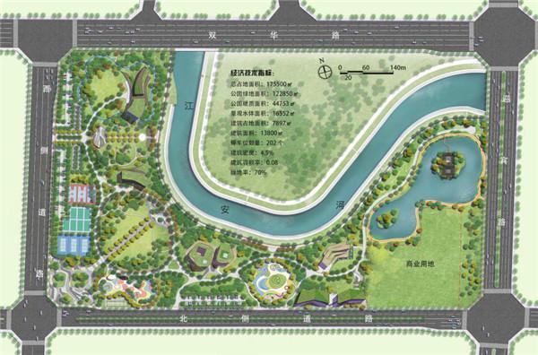 公园健身区手绘平面图