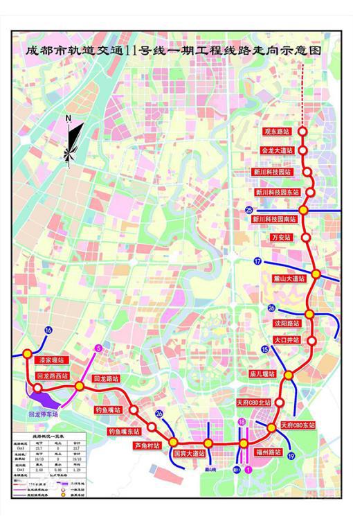 成都地铁11号线示意图已出 周边楼盘价值陡增
