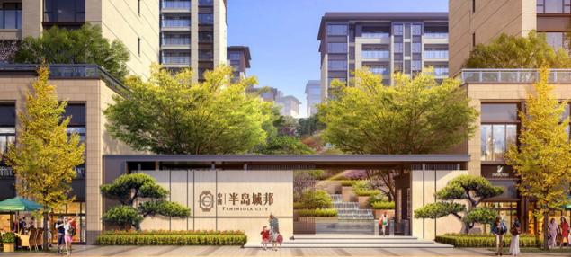 中洲半岛城邦 匠呈三大公园环伺的悠然生活