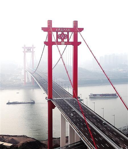 寸滩长江大桥通车 南岸到江北机场仅15分钟