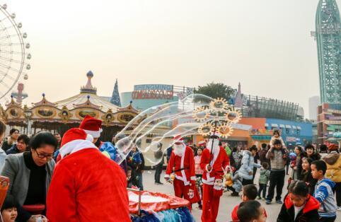 圣名双旦冰雪嘉年华启幕 市民都在这里过节