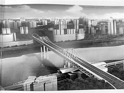 """曾家岩大桥吊装第一块钢桁梁 桥面有望年内""""合龙"""""""