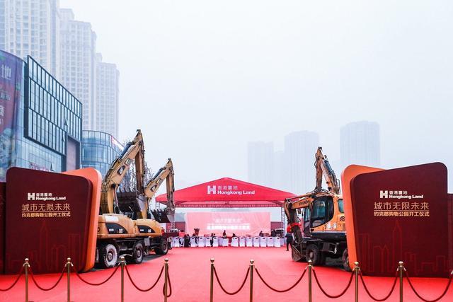 香港置地约克郡购物公园动工,金州商圈未来可期
