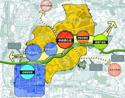 根据九龙坡区方面提供的信息显示,未来,二郎片区将以商务楼宇为载体
