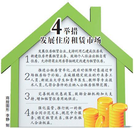 国务院4举措鼓励个人出租住房