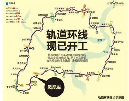 图说:重庆轨道环线站点示意图-房贷没有房租高 兴茂盛世国际低月供